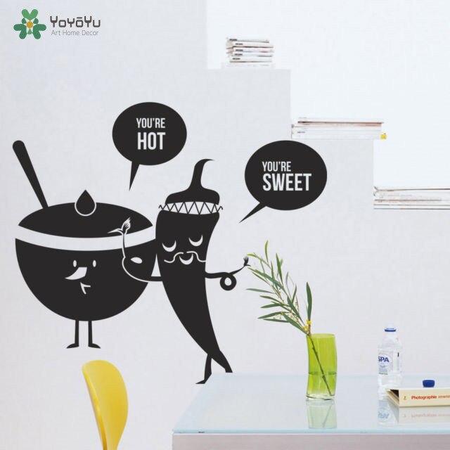 YOYOYU Wall Decal Vinyl Art Kitchen Room Decoration Lovely Catoon Sticker Removeable Mural YO521
