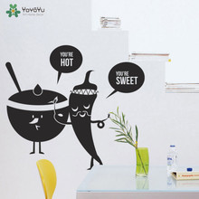 YOYOYU Wall Decal Vinyl Art Kitchen Room Decoration Lovely Catoon Sticker Removeable Mural YO521