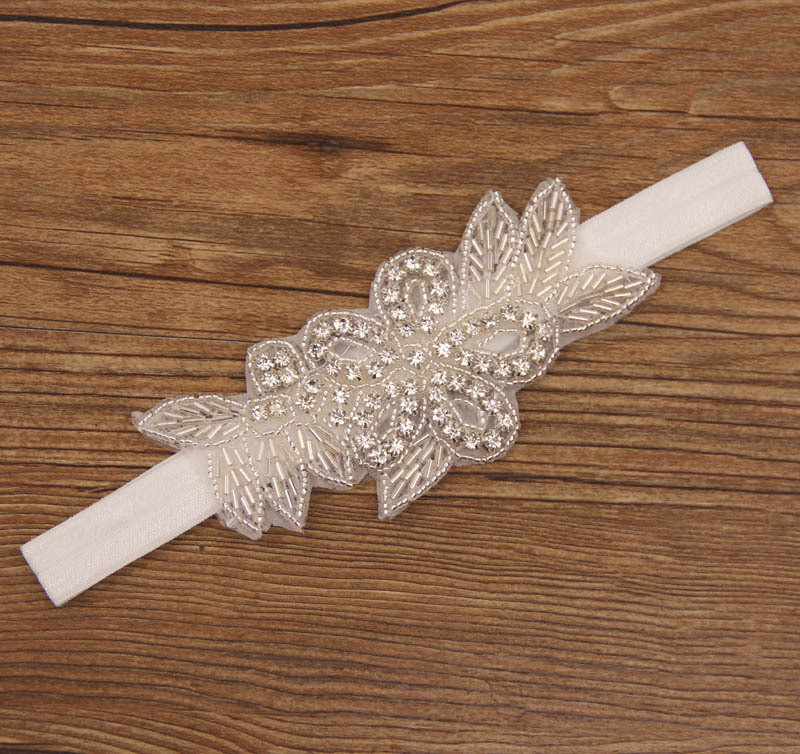 Детская повязка на голову с бисером, Хрустальная повязка на голову, Красивая повязка на голову со стразами, женские свадебные аксессуары