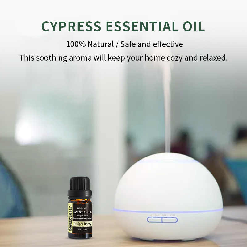 10ml huile essentielle de cyprès pour diffuseur brûleur organique soulager le Stress désodorisant huile humidificateur 100% huile naturelle Pure