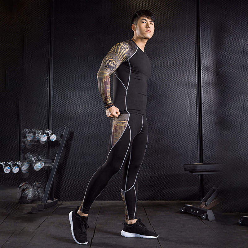 Compression clothing for men jogging suits Gym tights training shirt running shirt men T-shirt leggings sport fitness crossfit