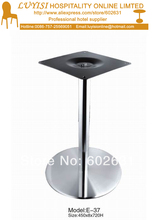 quality round Stainless steel cafe table basement good for indoor and outdoor kd packing 1pc carton
