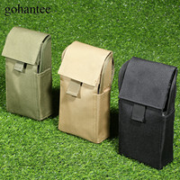 Gohantee Tactical Mag Pouch MOLLE 25 Round Shotshells Hunting Bullet Bag 12GA 12 Gauge Ammo Shells