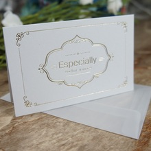 multi-use 25pcs gold Especially for you Card with envelope Scrapbooking party invitation DIY Decor gift card