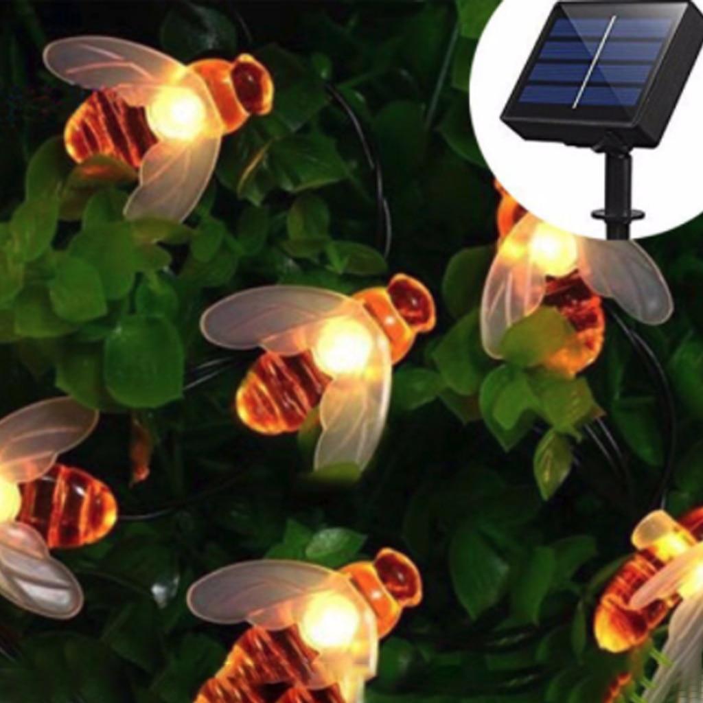 Solar String Light 30 LED Honey Bee Shape Warm Light Garden Decoration Waterproof Creative Tree Haning Light Outdoor Fairy Light