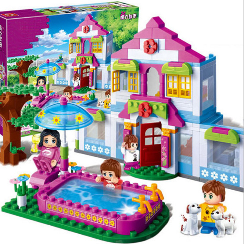 2017 Hot Sale Girls City Dream House Building Brick Blocks Sets Gift Toys For Children Compatible with Lepine Friends lepin 02012 city deepwater exploration vessel 60095 building blocks policeman toys children compatible with lego gift kid sets