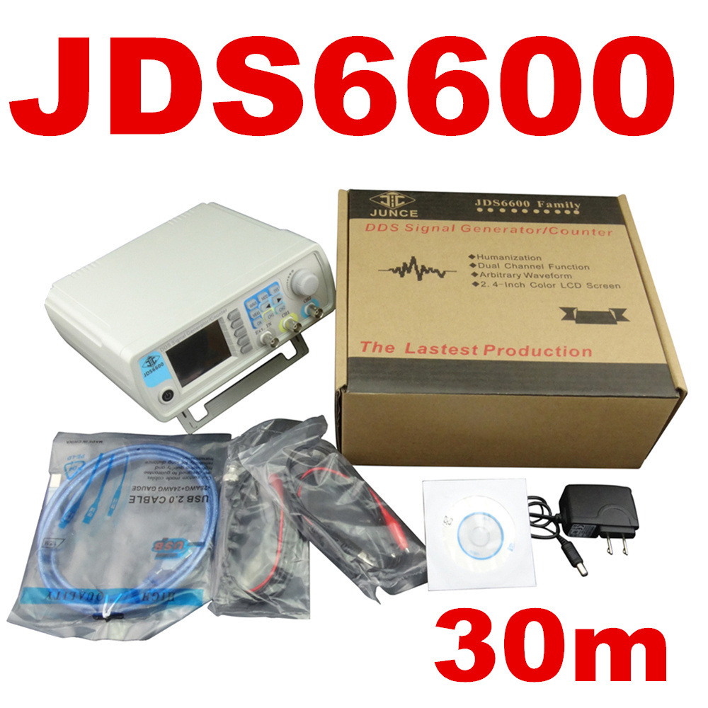 JDS6600 Series 30MHZ Digital Control Signal Generator Dual-channel DDS Function Arbitrary sine Waveform frequency meter 50mhz digital control dual channel dds function signal generator arbitrary waveform pulse frequency meter