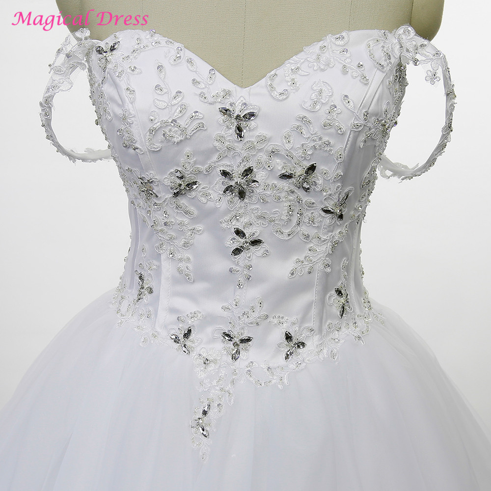 Buy Halloween Wedding Gowns 2017 Bling