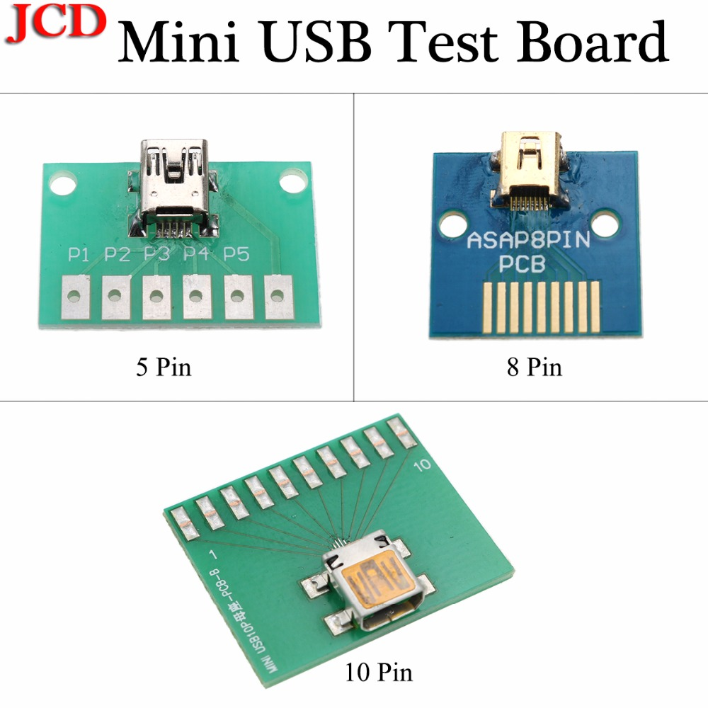 JCD 5pin 8 Pin 10 Pin MINI USB FEMALE SOCKET TO DIP BOARD PITCH 2.54MM MINI 5PIN 5p Female JACK Plug CONNECTOR Converter Adapter
