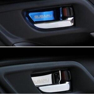 Image 5 - רכב פנים דלת ידית קערת כיסוי תיקון לקצץ עבור סובארו פורסטר Xv אאוטבק Legacy אימפרזה StI STI 2013 2017 רכב סטיילינג