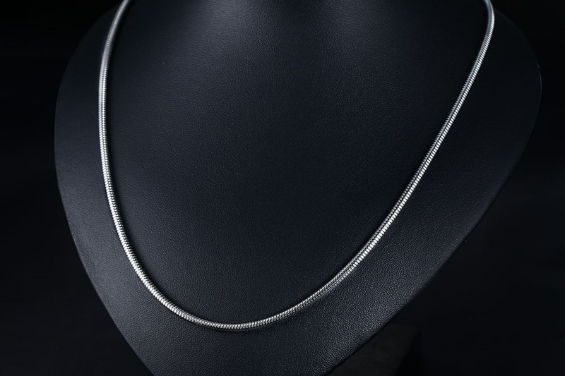 Stainless Steel Round Snake Style Necklace