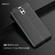 Meizu M6 Note Case M 6 Cover Soft Silicone Leather Style Shockproof Armor Phone For Fundas 5.5