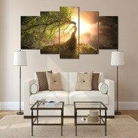 HD Impreso Hermoso Grupo asistente árbol foto lienzo de Pintura decoración de la habitación de pósteres Envío Libre/F016