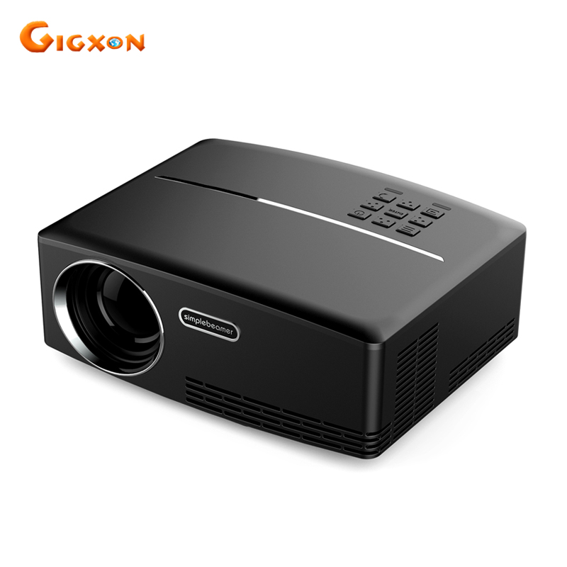 Gigxon G88 New arrival GP80 LED projector 800x480pixels home theatre portable LCD projector 23 languages