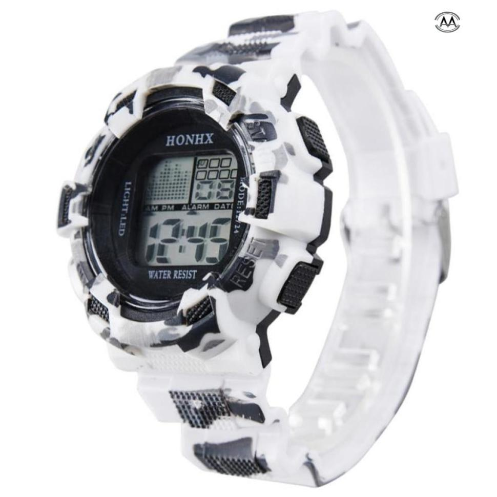 Fashion Herre Digital LED Analog Quartz Alarm Dato Sport Armbåndsur - Mænds ure