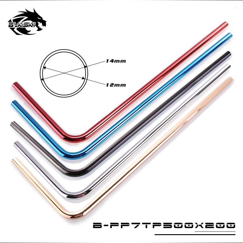 Computer & Office Practical Bykski Water Cooler Case Metal Pipe Chassis Copper Tubing Pc Hard Tubing Od14mm Pre-bent Elbow 12x14mm Silver Red Blue Fan Cooling