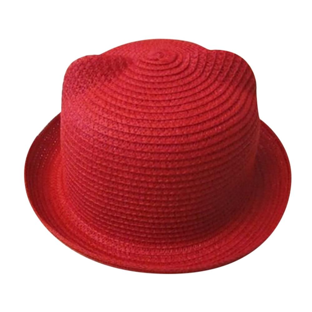 75f6d787a US $1.88 21% OFF|2018 New Straw Cap Baby Hats Summer Beach Sun Cap Hat For  Girls Boys Cute Children Jazz Cap Bucket Panama Hat Photography Props-in ...