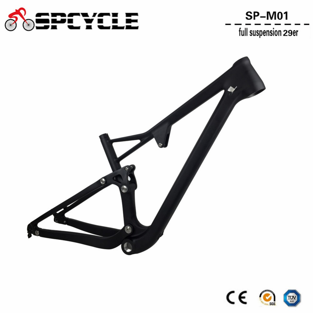 Spcycle Carbon Full Suspension Frame 29er Carbon MTB Bicycle Frame 142*12mm Thru Axle Mo ...