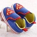 Zapatos de bebé Súper Batman Resbalón-en las Zapatillas de deporte de Los Niños Suave Suela Primeros Caminante Niños Niñas Calzado Cuna