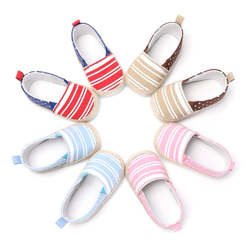 Baby First Walkers Boy Girl Stripe Printed Stars Casual Shoes New Fashion Lazy Shoes Baby Toddler Shoes in First Walkers from Mother Kids