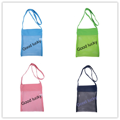 Free Shipping 100pcs Lot Kids Beach Bag Sheall Mesh Collect Tote