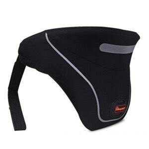 Image 3 - Yeni moto rcycle boyun koruyucu moto yarış boyun koruma neckguard yansıtıcı fermuar 3D servikal omurga koruyucu donanım parçaları