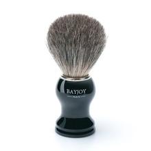 1pc 블랙 브랜드 뉴 맨 오소리 머리카락 면도 브러쉬 면도날 안전면 100 % 오리지날 안전 면도기 11cm x 3.5cm