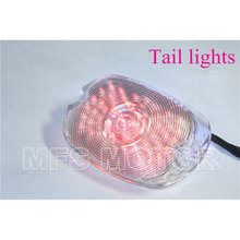 motorcycle parts RED Tail Light For Harley Davidson Softail Sportster Road King Dyna Electra Glide Fat Boy Clear