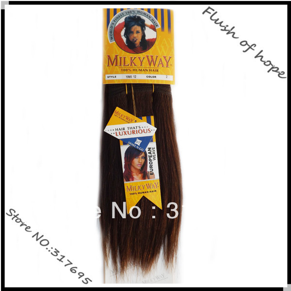 Free Shipping Milky Way Yaki Wave Human Hair Extensions Remy Human