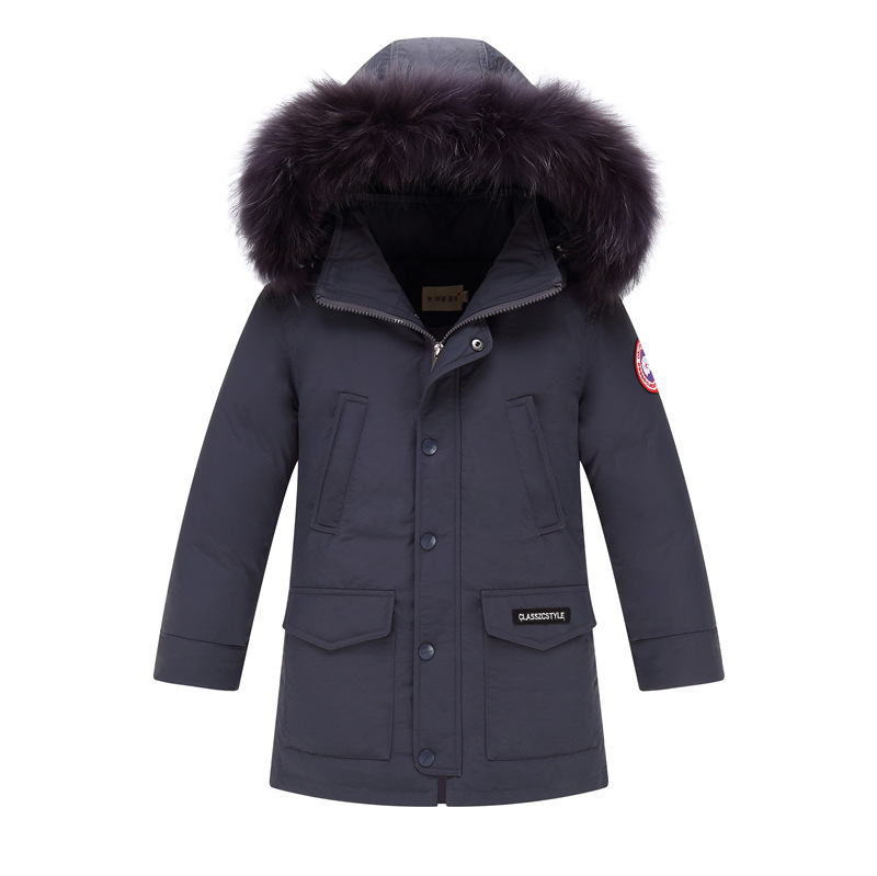 2017 Winter Children's Down Jackets Coats Boys Warm Parkas Fur Collar Big Boy Coat Thick Duck Down Feather Jacket Outerwears russia winter boys girls down jacket boy girl warm thick duck down