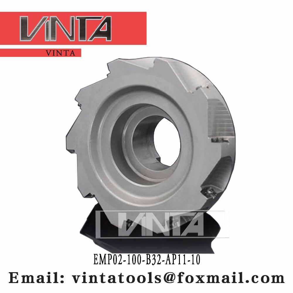 EMP02-100-B32-AP11-10 Square should milling cutter with high quality and good price matched inserts APKT11T3 Vinta tools image