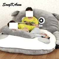 Baby Folding Lazy Sofa Bed Blue Green Grey Seat Cushion Couch Cute Cartoon Sleeping Bags Mattress Back Cushion