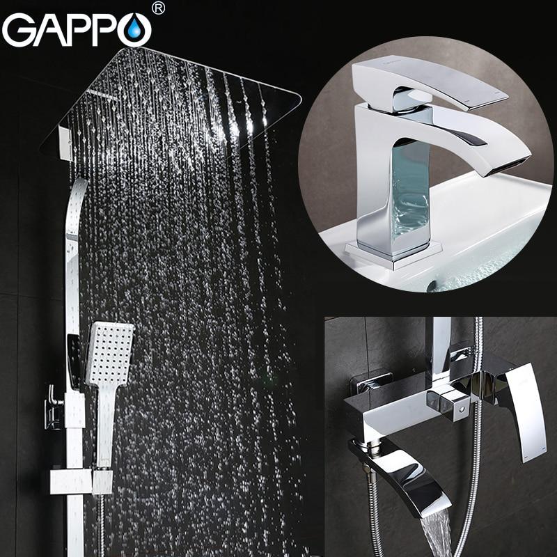 GAPPO Chuveiro Torneiras banheira torneiras banheiro chuveiro set mixer torneira bacia torneiras bacia sink toque sistema de chuveiro