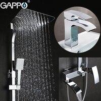 GAPPO Shower Faucets bath tub taps bathroom shower set mixer faucet basin faucets basin sink tap shower system