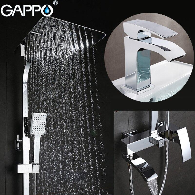 Grifos de ducha GAPPO grifos de bañera juego de ducha de baño grifos lavabo grifo Sistema de ducha