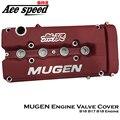 Ace speed-MUGEN Style Red Rocker Engine Valve Cover For Honda B16A B17A B18C Engine VTEC