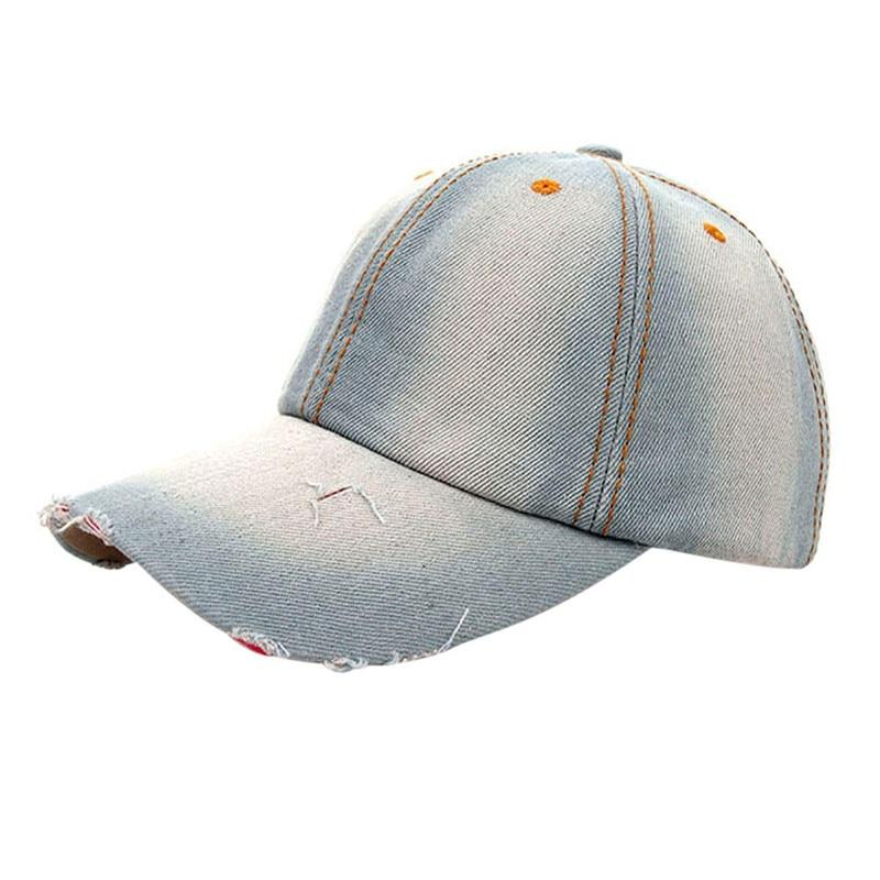 971b66cc09f Feitong 2017 Fashion Caps Women Men Adult Denim Baseball Caps Fashion  Snapback Solid Jeans Ripped Cap Hats for Women Bones-in Baseball Caps from  Apparel ...