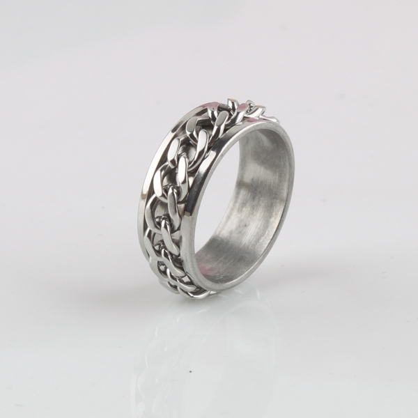 Top Quality Titanium Steel Man Ring Chain Style Titanium Men Ring & Women Ring Jewelry Free Shipping Кольцо