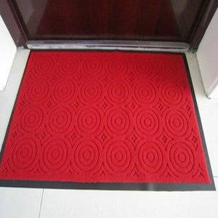 Bref épaississement paillasson pvc double latex tapis antidérapant tapis extérieur