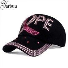 [YARBUU] brand new fashion high quality baseball caps for women Cotton Rhinestone Hat snapback cap with letter HOPE wholesale