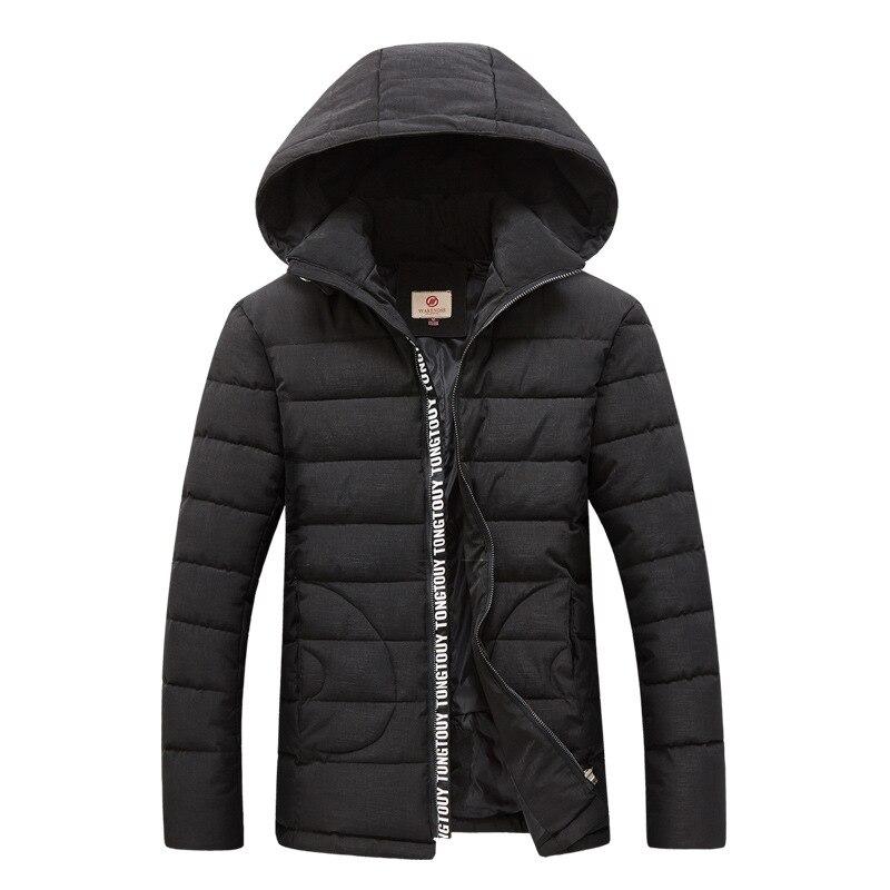 ФОТО New Trend Hooded Winter Jacket Men/Boy Doudoune Homme Hiver 2016 Wave Cut Fashion Black Mens Zipper Slim Fit Cotton Down Jackets