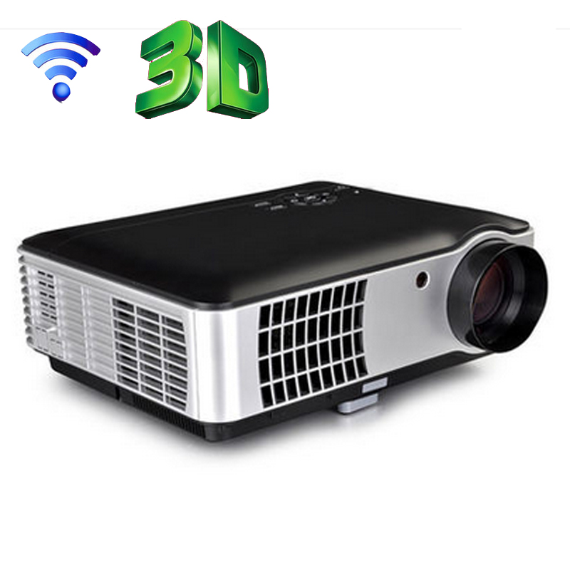Led wifi 3500 lumens lcd full hd projector wireless cinema for Bluetooth hdmi projector