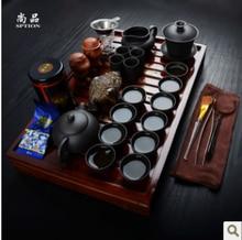 Förderung!!! tee-set yixing kung fu tee-set massivholz teetablett teekanne keramik tee-sets qualität tasse kostenloser versand
