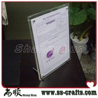 Free Shipping 8 Inch Photo Acrylic Table Display Frame Introduction Function Table Top Stand Menu List