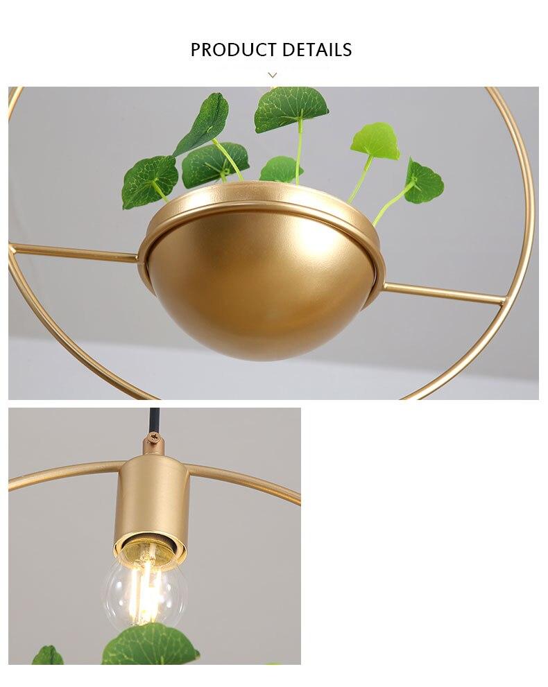 北欧餐厅灯简约创意个性吧台单头床头奶茶店服装店小吊灯植物灯具-tmall_09