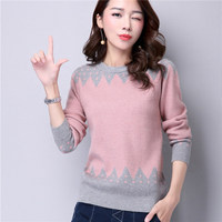 2019 sweater, female head, winter and autumn, winter, short, thick, bottoming cashmere long sleeved top sweater, women's wear.