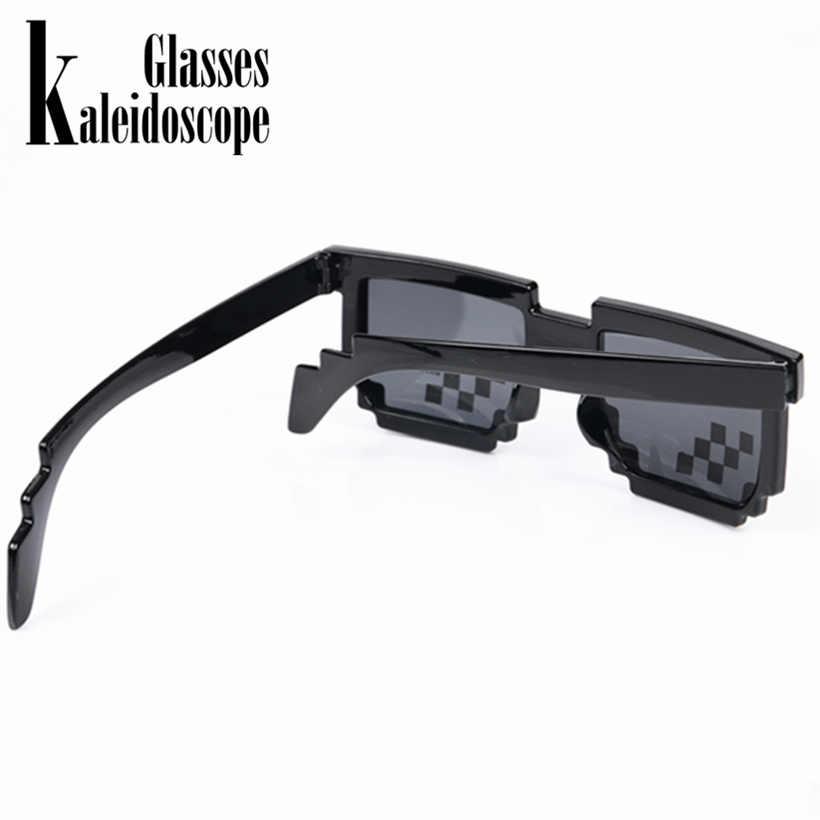 b247de34f7 ... Caleidoscopio gafas Thug vida mosaico Pixel gafas el mundo 8 bits  lidiar con ello gafas de ...