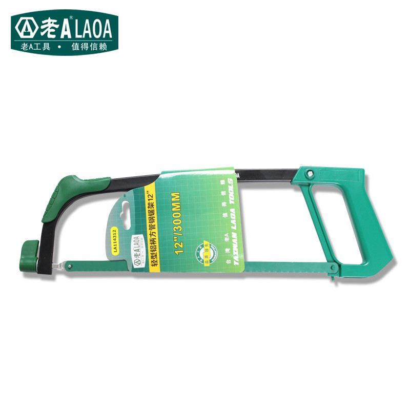 LAOA New Arrival 12Inch Light Type Square Tube Aluminum Alloy Steel Saw  Frame Garden Hand Saw Wonder Saw 1pcs