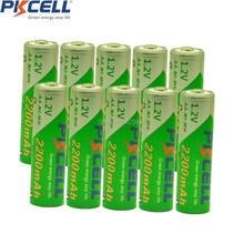 Recarregável para Câmera 10 PCS Baterias AA Ni-mh 1.2 V 2200 MAH Nova Baixa Auto-descarga DA Bateria Brinquedos Etc-pkcell
