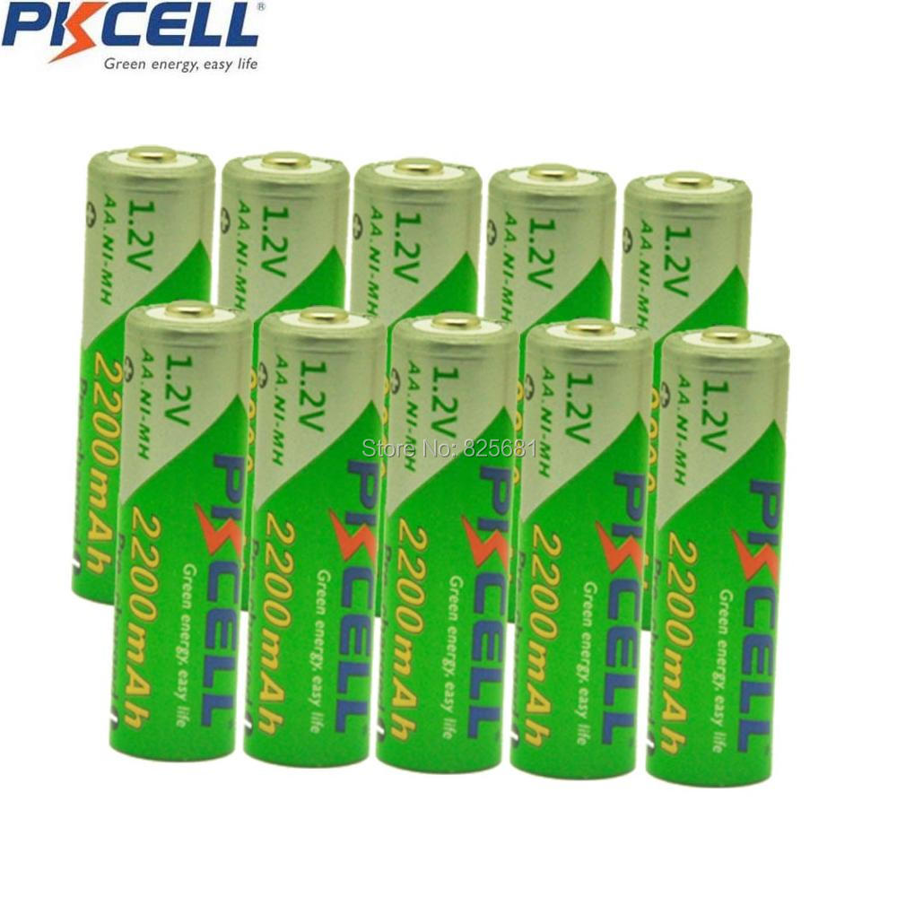 10pcs  Ni-MH  AA 1.2V 2200mAh  new  Low self-discharge  Rechargeable Battery for camera,toys etc-PKCELL